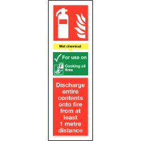 Self-Adhesive Fire Extinguisher Signs - Wet Chemical