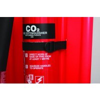 Secure CO² Extinguisher Canvas Straps for 2 Part Extinguisher Stands