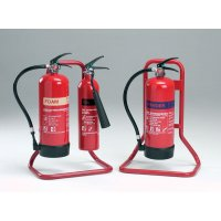 Single/double tubular metal stands for fire extinguishers