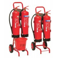 Complete Mobile Fire Safety Stand with Extinguisher Holder