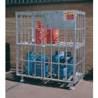 Secure and Lockable Gas Cylinder Carriers - Painted