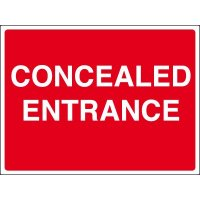 Concealed entrance construction site signs for site safety