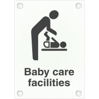 Frosted Acrylic Baby Care Facility Signs