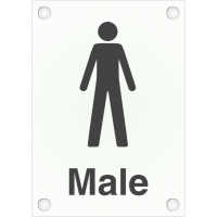 Die-Cut Frosted Acrylic 'Male' Toilet/Washroom Signs