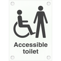 High Quality Disabled & Male Accessible Toilet Frosted Acrylic Sign