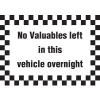 Self-adhesive Vehicle and Premises Signs
