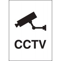 Rigid Plastic CCTV Sign With Metallic Finish