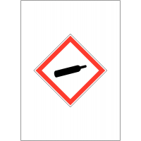 GHS COSHH Symbol Signs - Compressed Gas
