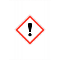 Self Adhesive And Magnetic 'Harmful/Irritant' Signs