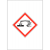 GHS COSHH Symbol Signs - Corrosive