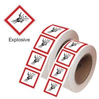 Explosive GHS Labelling Symbols On-a-Roll