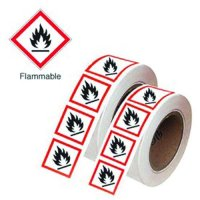 Durable GHS Symbols On-a-Roll - Flammable