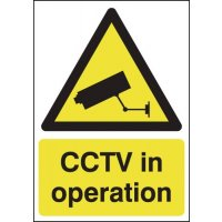 Freestanding Plastic CCTV In Operation Signs
