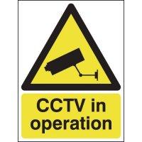 Weather-Resistant Aluminium 'CCTV In Operation' Sign