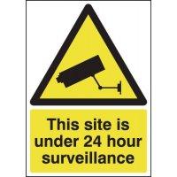 Self-Adhesive CCTV Warning Sign