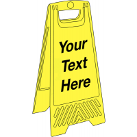 Custom printed plastic floor-standing sign