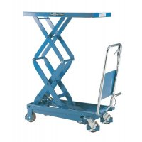 Pump-Action Double Scissor Lifting Table