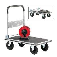 Folding Platform Trolley with Pneumatic Wheels