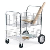 Dual-Tier Chrome-Plated Trolley