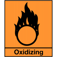 Oxidising Hazard Symbol Labels - Sheet of 48