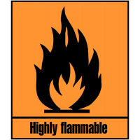 Self-Adhesive 'Highly Flammable' Hazard Symbols
