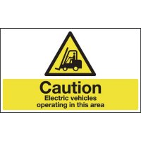 Anti-slip floor signs with electric vehicle warning