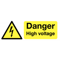 Face-adhesive Danger High Voltage Window Fix Safety Signs
