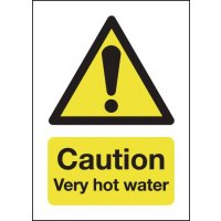 Clear and concise hot water caution signs