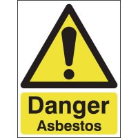 Fully Compliant Asbestos Warning Signs in Various Sizes