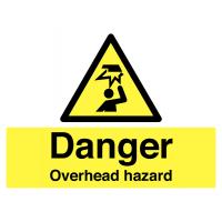 PVC Overhead Hazard Stanchion Sign