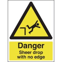 Fully Compliant 'Sheer Drop With No Edge' Warning Sign