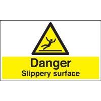 Danger slippery surface anti-slip floor signage