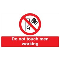 Do Not Touch – Men Working' Magnetic Vinyl Sign