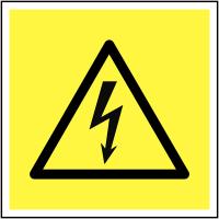 Electrical Hazard Symbol Signs