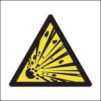 Self-adhesive 'Explosive Hazard' Symbol Signs