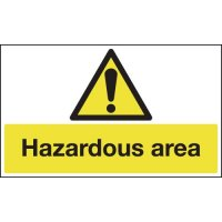 Anti-slip hazardous area signage for floors