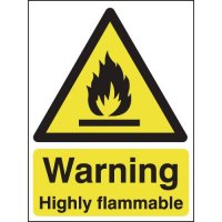 Eco-friendly 'Warning Highly Flammable' Sign