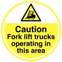 Anti-slip caution fork lift truck floor signs