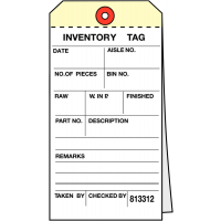 Duplicate Carbonless Inventory Tags for Easy Record Keeping