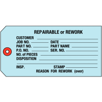 Inventory Tags For Repairable Parts