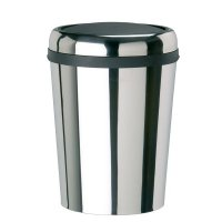 Hygienic stainless steel oval bins with swinging lid