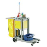 Structocart Durable Plastic Cleaning Trolley