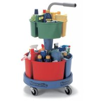 Mobile Cleaning Carousel with Colour-Coded Caddies