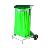 Wheeled Sack-Holder Bin with Pedal-Operated Colour-Coded Lid