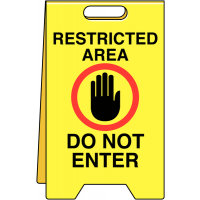 Highly visible and sturdy Restricted Area Do Not Enter Double-Sided Heavy-Duty Sign