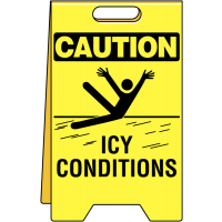 Durable Polyethylene 'Icy Conditions' Floor Sign
