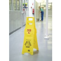 Tall Yellow Wet Floor Stands