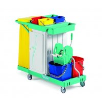 TTS all-purpose mop wringer trolley with three drawers
