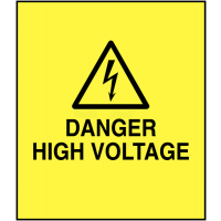 PVC Danger High Voltage Electrical Safety Labels