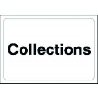 Sign identifying collections point